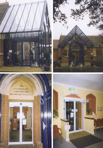 ... External porch with canopy into period property ... & Canopies porches lobbies and shelters | Anglian Architectural Ltd