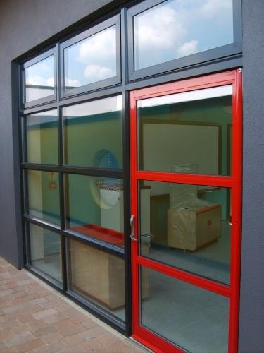 Comar 2 screen with Comar 7 door & Windows and doors | Corporate industrial retail | Anglian ...