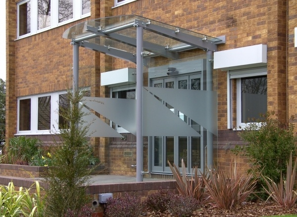 Bolted Glass Canopy with Telescopic Auto Doors ... & Canopies porches lobbies and shelters | Anglian Architectural Ltd