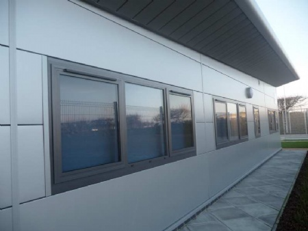 ... Schuco AWS 50+ windows; Shopline entrance doors ... & Windows and doors | Corporate industrial retail | Anglian ...