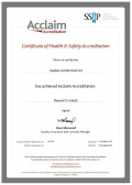 SSIP certificate of Health and Safety
