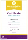 Newly registered Contructionline Gold Member & Chas accreditation renewed