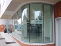 Curtain wall & curved glass corner